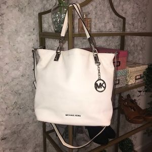 Amazing Condition White Michael Kors Bag